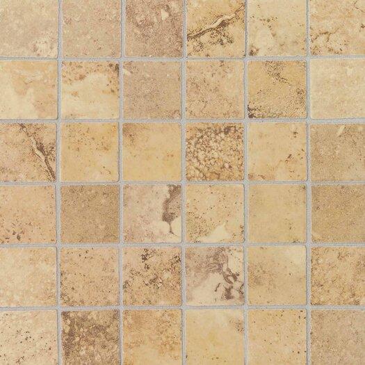 "Daltile Pietre Vecchie 2"" x 2"" Mosaic Field Tile in Golden Sienna"