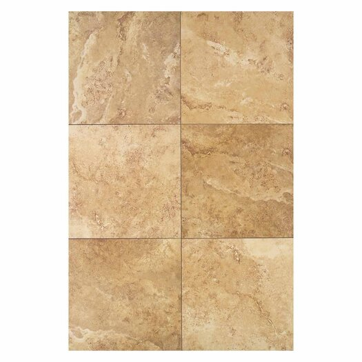 "Daltile Pietre Vecchie 13"" x 13"" Field Tile in Warm Walnut"