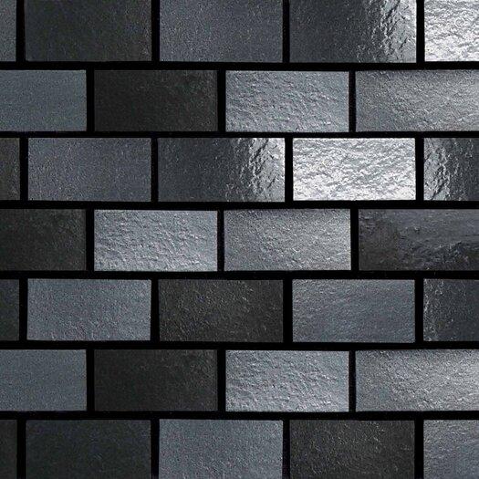 "Daltile Urban Metals 2"" x 1"" Brick Joint Decorative Accent in Gunmetal"