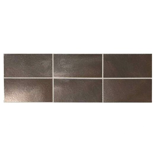 "Daltile Urban Metals Straight Joint 4"" x 2"" Glazed Mosaic in Bronze"