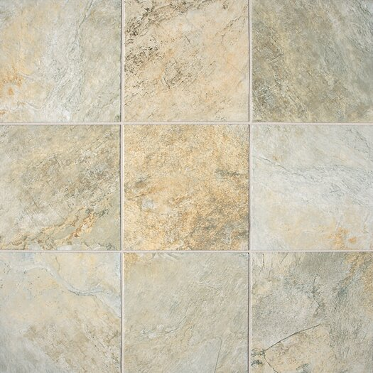 "Daltile Franciscan Slate 18"" x 18"" Unpolished Field Tile in Desert Crema"