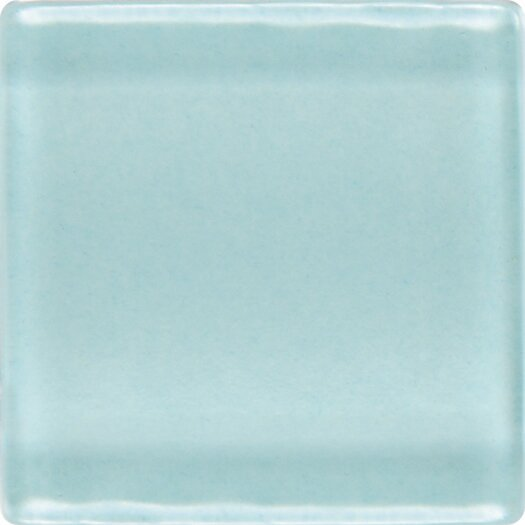 """Daltile Isis 1"""" x 1"""" Ceramic Glossy Mosaic in Whisper Blue"""