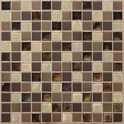 "Daltile Keystones Blends 1"" x 1"" Porcelain with Oceanside Glass Unpolished Mosaic in Treasure Island"