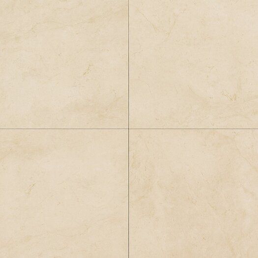"Daltile Monticito 18"" x 18"" Plain Field Tile in Crema"