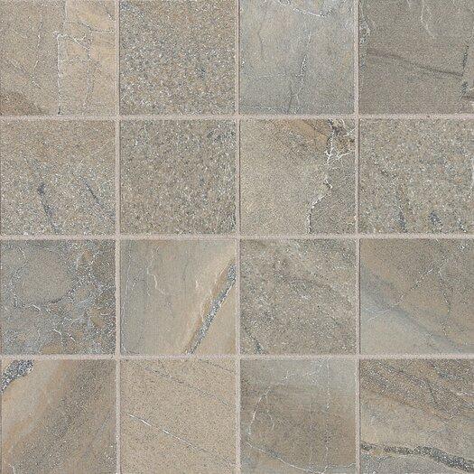 """Daltile Ayers Rock 3"""" x 3"""" Unpolished Glazed Porcelain Mosaic in Majestic Mound"""