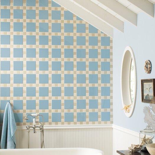 "Daltile Permatones Plain 2"" x 2"" Porcelain Glazed Mosaic Field Tile in Matte Almond"