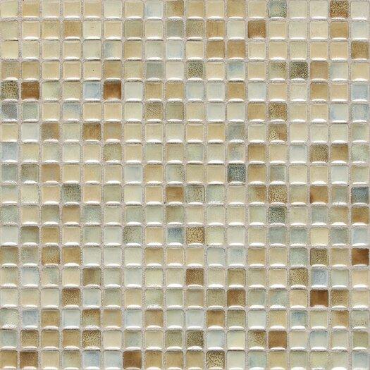 "Daltile Fashion Accents 5/8"" x 5/8"" Glazed Shimmer Illumini Mosaic in Sand"