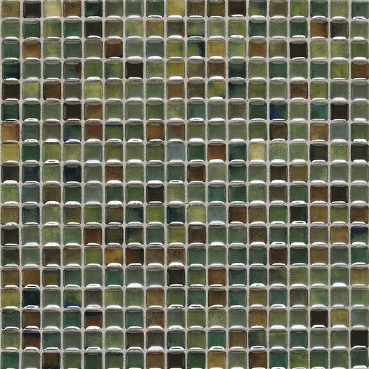 "Daltile Fashion Accents 5/8"" x 5/8"" Glazed Shimmer Illumini Mosaic in Meadow"