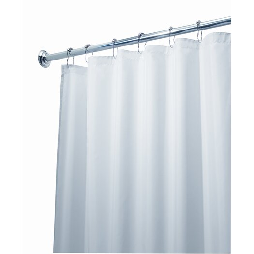 InterDesign EVA Polyester Frost Extra Long Shower Curtain / Liner