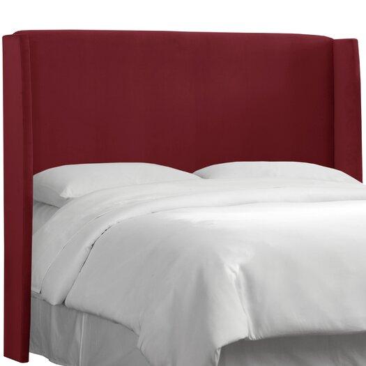 Skyline Furniture Velvet Wingback Headboard