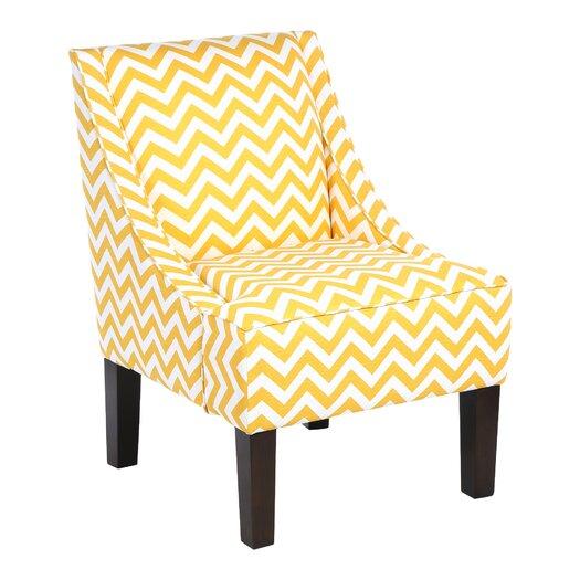 Skyline Furniture Zig Zag Swoop Armchair