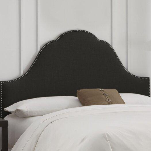 Skyline Furniture Linen Nail Button Arch Upholstered Headboard