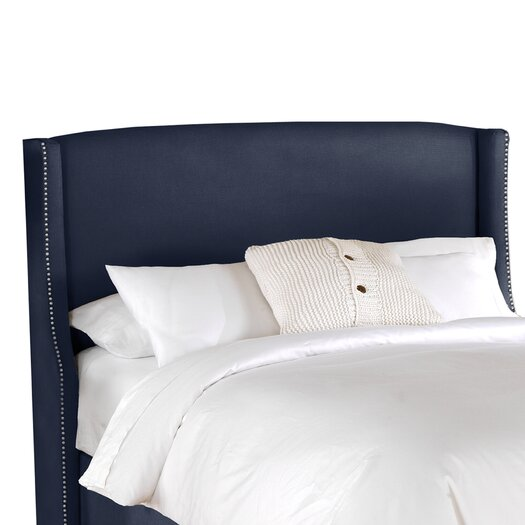 Skyline Furniture Chambers Nail Button Wingback Headboard