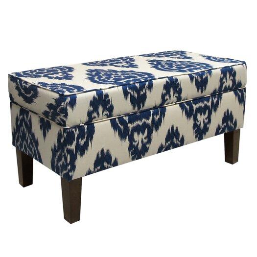 Skyline Furniture Diamonds Upholstered Storage Bedroom Bench