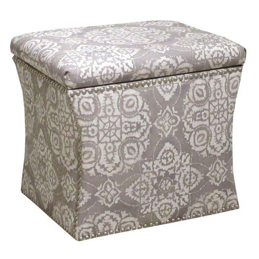 Skyline Furniture Nail Head Storage Ottoman I