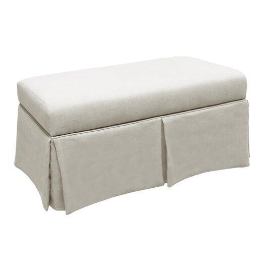 Skyline Furniture Linen Wood Skirted Storage Bench