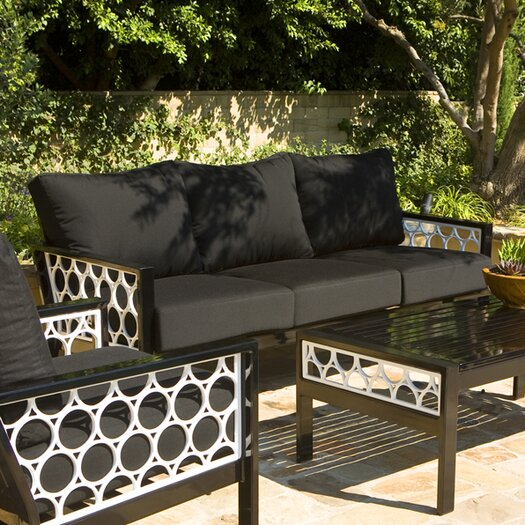 Koverton Parkview Cast Deep Seating Sofa with Cushions