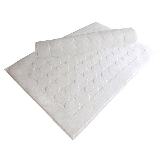 Linum Home Textiles 100% Turkish Cotton Circle Design Bath Mats (Set of 2)
