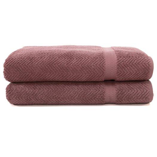 Linum Home Textiles Herringbone Weave 100% Turkish Cotton Bath Towel