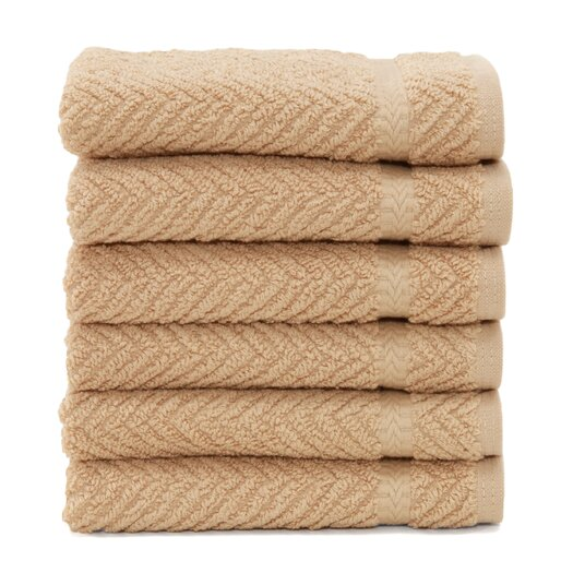 Linum Home Textiles Luxury Hotel & Spa Herringbone Weave 100% Turkish Cotton Wash Cloth