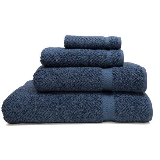 Linum Home Textiles Luxury Hotel & Spa Herringbone Weave 100% Turkish Cotton 4 Piece Towel Set