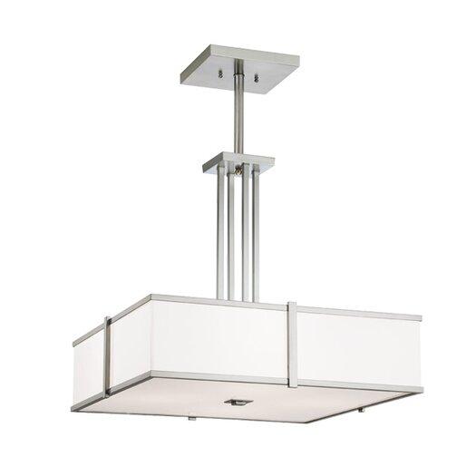 ILEX Lighting Hatbox Square Pendant with Quad Stem