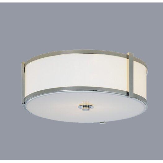 """ILEX Lighting Hatbox 16"""" Round Flush Mount"""