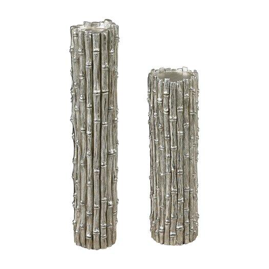 Sterling Industries 2 Piece Bamboo Pillar Candlestick Set