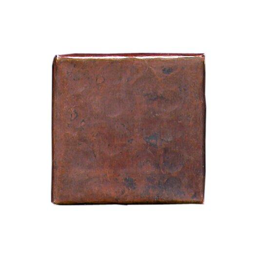 """D'Vontz Plain Hammered 2"""" x 2"""" Copper Border Tile in Dark Copper"""