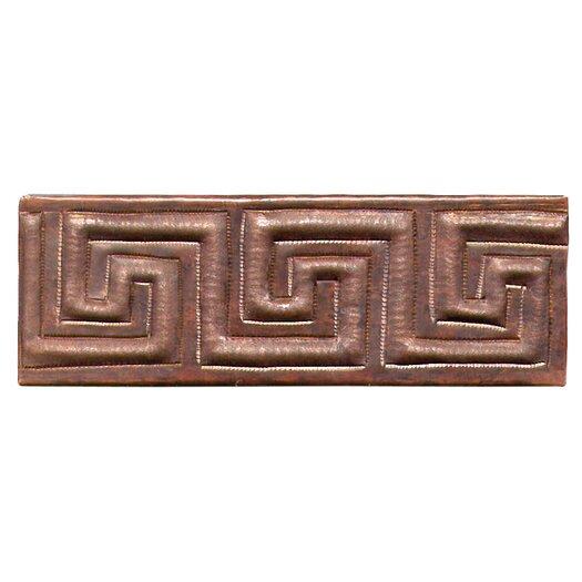 """D'Vontz Greek Band 6"""" x 2"""" Copper Border Tile in Dark Copper"""