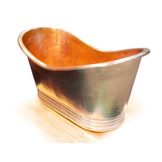 """D'Vontz Juliana Copper 67"""" x 31"""" Small Slipper Tub"""