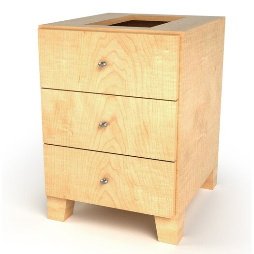 D'Vontz MDV Modular Cabinetry 3 Drawer Drawer Base Footed Cabinet