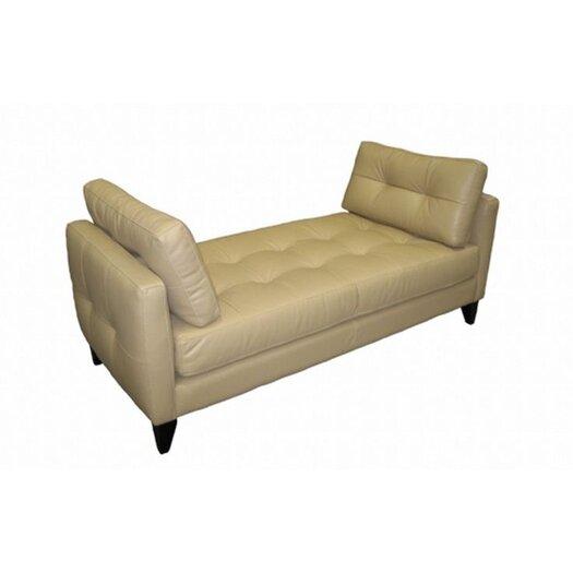 Omnia Furniture City Loft Leather Bench