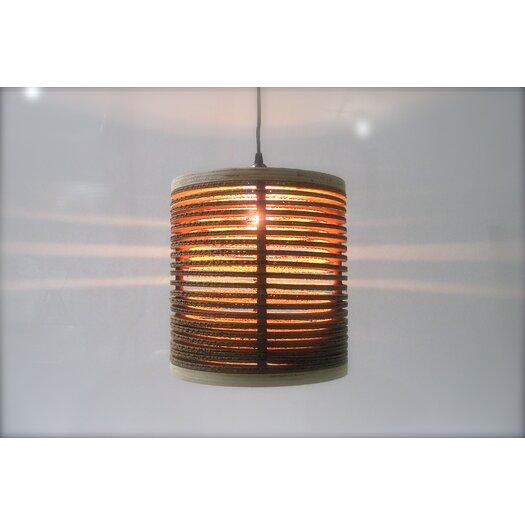 Shiner International Spaced 1 Light Drum Pendant
