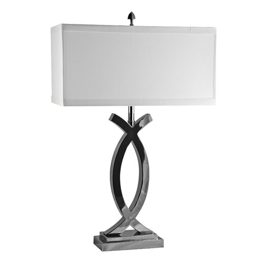 "Lamp Works Pisces 30"" H Table Lamp with Rectanugler Shade"