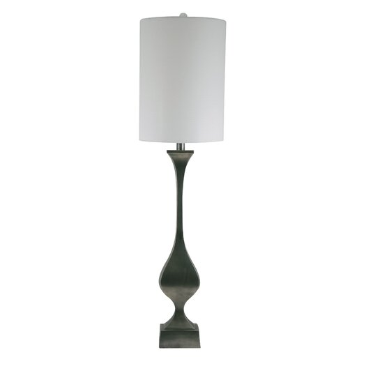 "Lamp Works Candlestick 39"" H Table Lamp with Drum Shade"