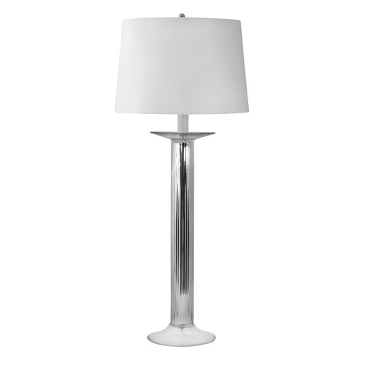"Lamp Works Candlestick 34"" H Table Lamp with Drum Shade"