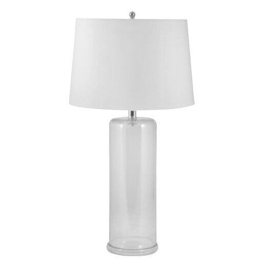 """Lamp Works Phil Up 30"""" H Table Lamp with Drum Shade"""