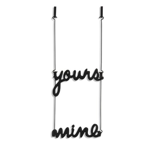 Yours and Mine over The Door Multi-Hook