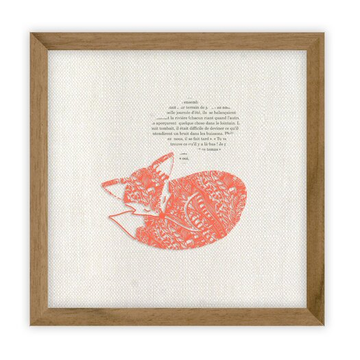 Fable Fox by Erika Kovesdi Framed Graphic Art
