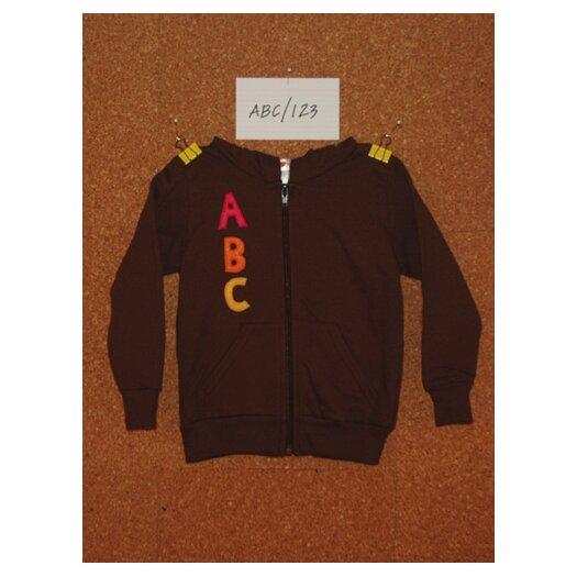 Jasper Hearts Wren ABC/123 Hoodie in Brown