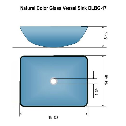 Dreamline Glass Sink Vessel Bathroom Sink