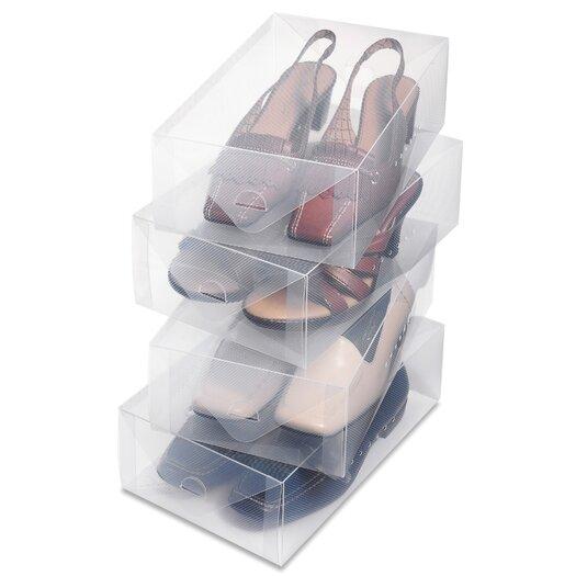 Whitmor, Inc Women's Shoe Box (Set of 4)