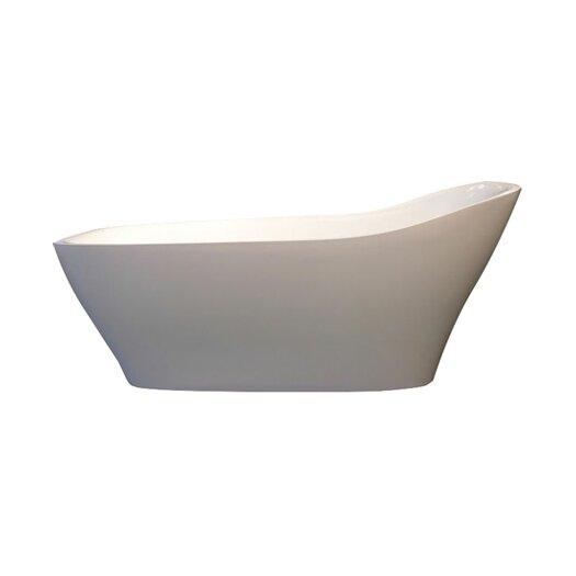 """Aquatica Emmanuelle 72"""" x 34"""" Slipper Tub"""