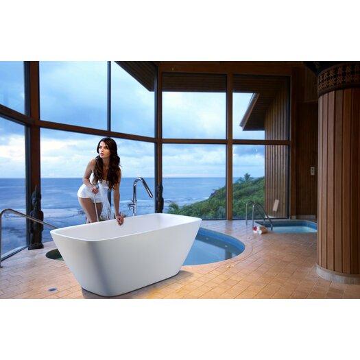 """Aquatica Arabella 69"""" x 30"""" Bathtub"""