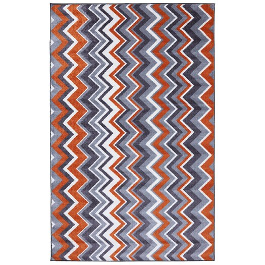 Mohawk Home New Wave Ziggidy Orange Area Rug