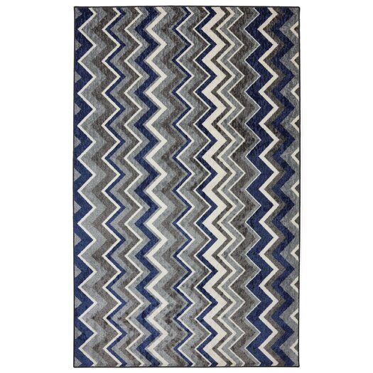 Mohawk Home New Wave Ziggidy Royal Blue Area Rug