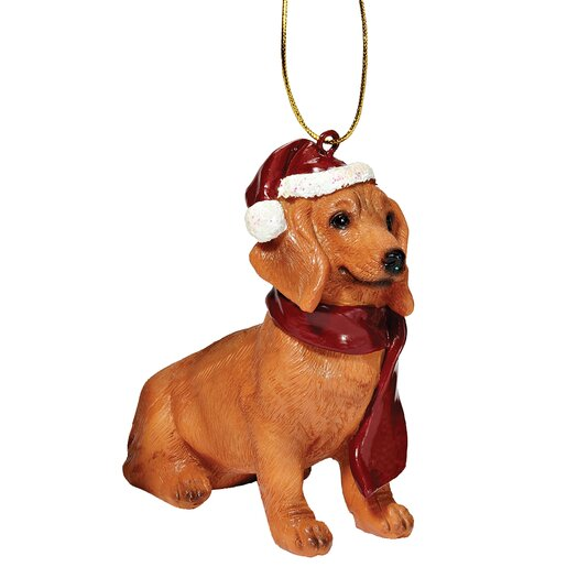 Design Toscano Dachshund Holiday Dog Ornament Sculpture