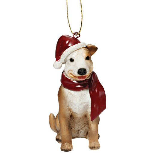 Design Toscano Pitbull Holiday Dog Ornament Sculpture