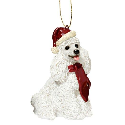 Design Toscano Poodle Holiday Dog Ornament Sculpture